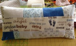 quilted baby pillow