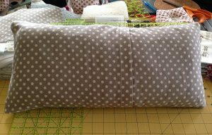 back of quilted baby pillow envelope style