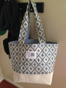 The finished market tote, my version :)