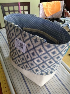 Handles are floppy on this tote since there's no interfacing inside.