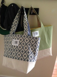 Tote #1 and Tote #2, the front one is slightly smaller.