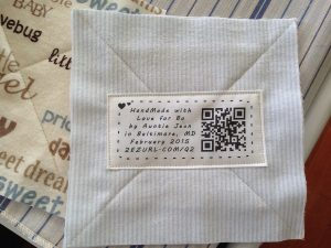 printed quilt label