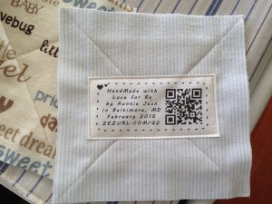 printed quilt label
